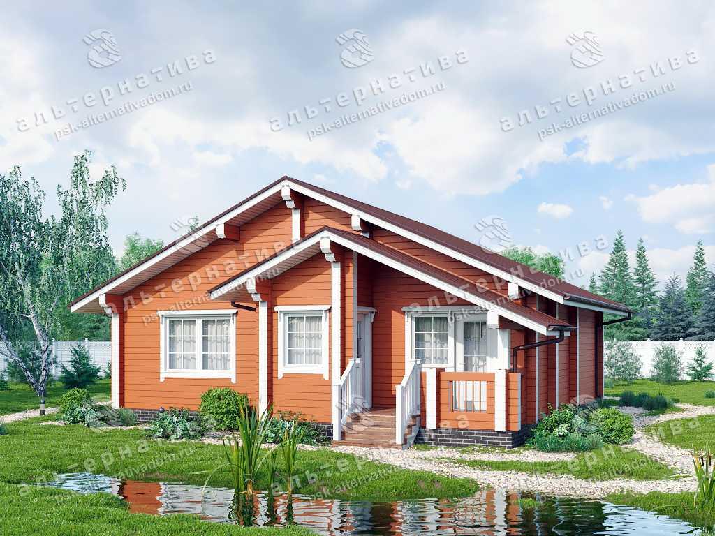 Дом 10х10, 86 м², брус