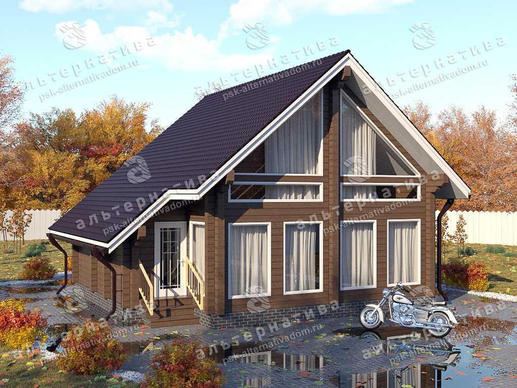 Дом 9х9, 94 м², брус
