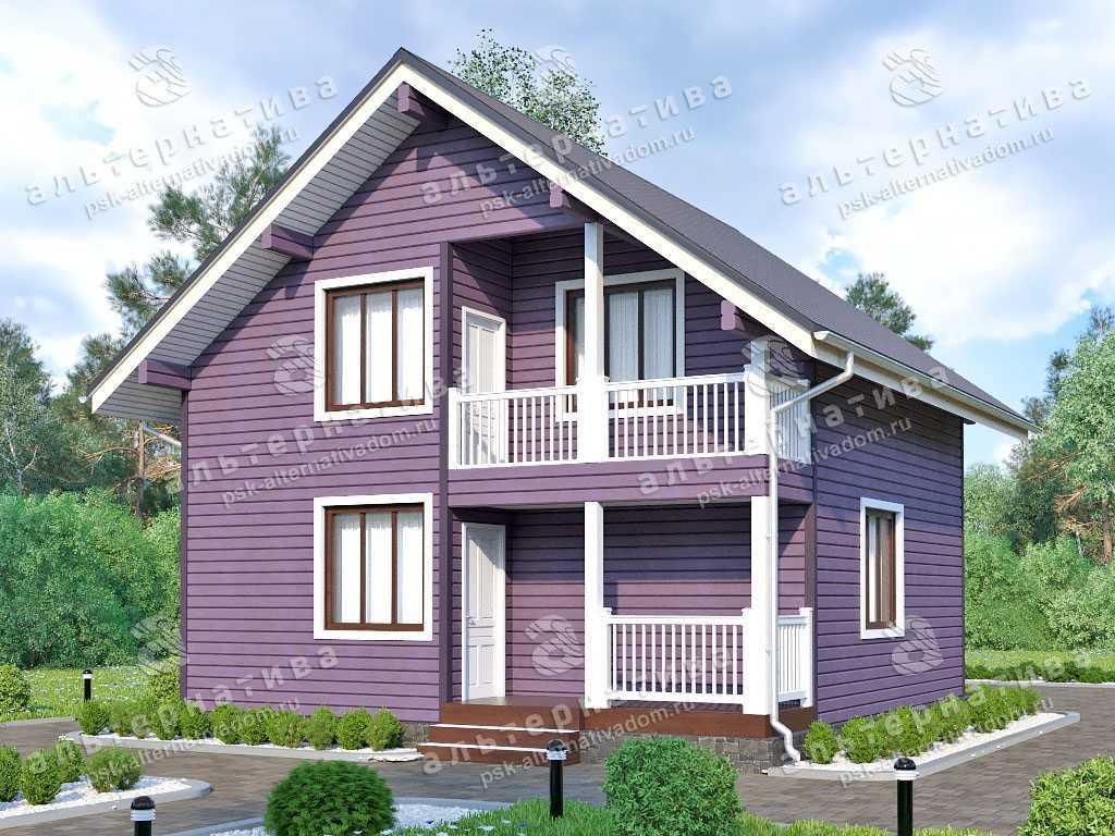Дом 8х8, 106 м², брус