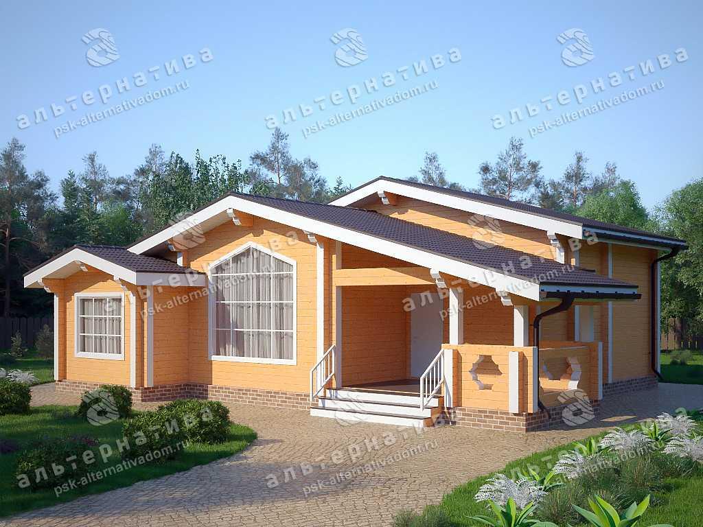 Дом 12х13, 118 м², брус