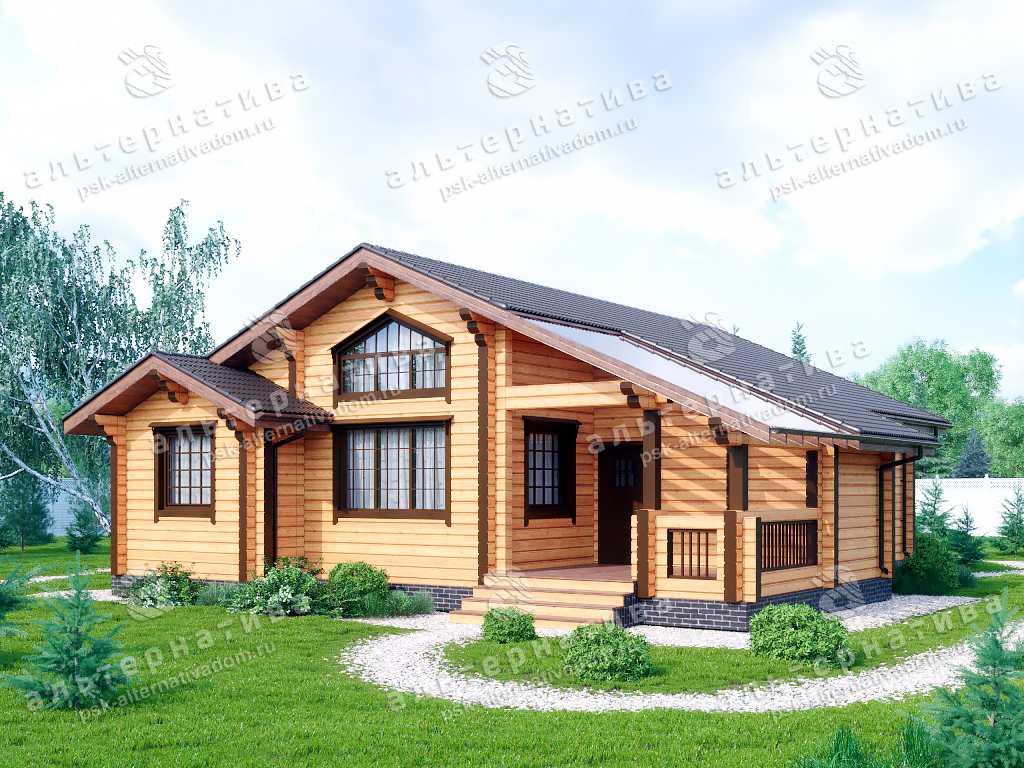 Дом 12х13, 123 м², брус