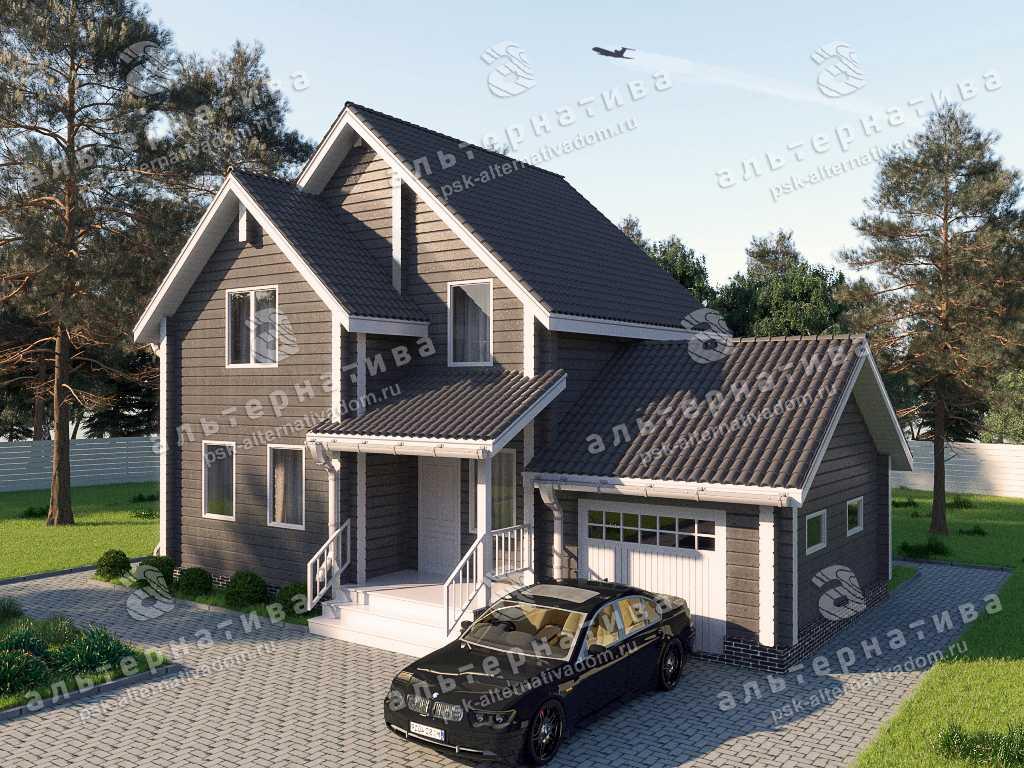Дом 8х12, 126 м², брус