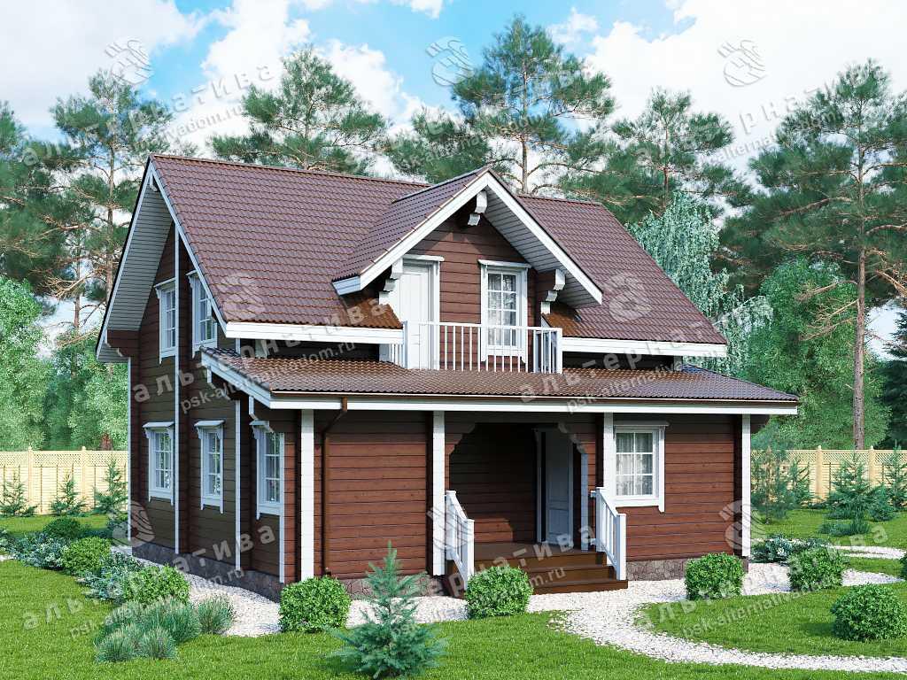 Дом 9х10, 126 м², брус