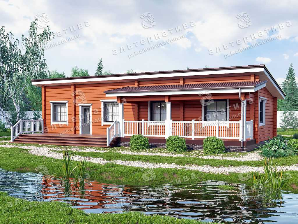 Дом 10х16, 126 м², брус