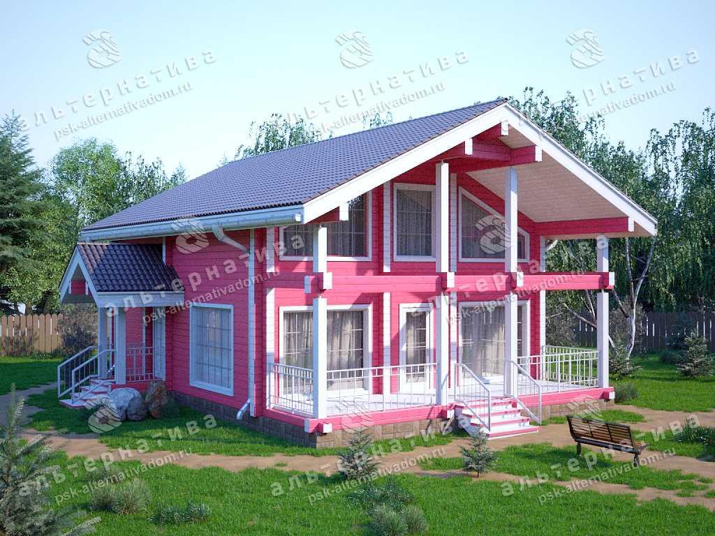 Дом 10х12, 130 м², брус