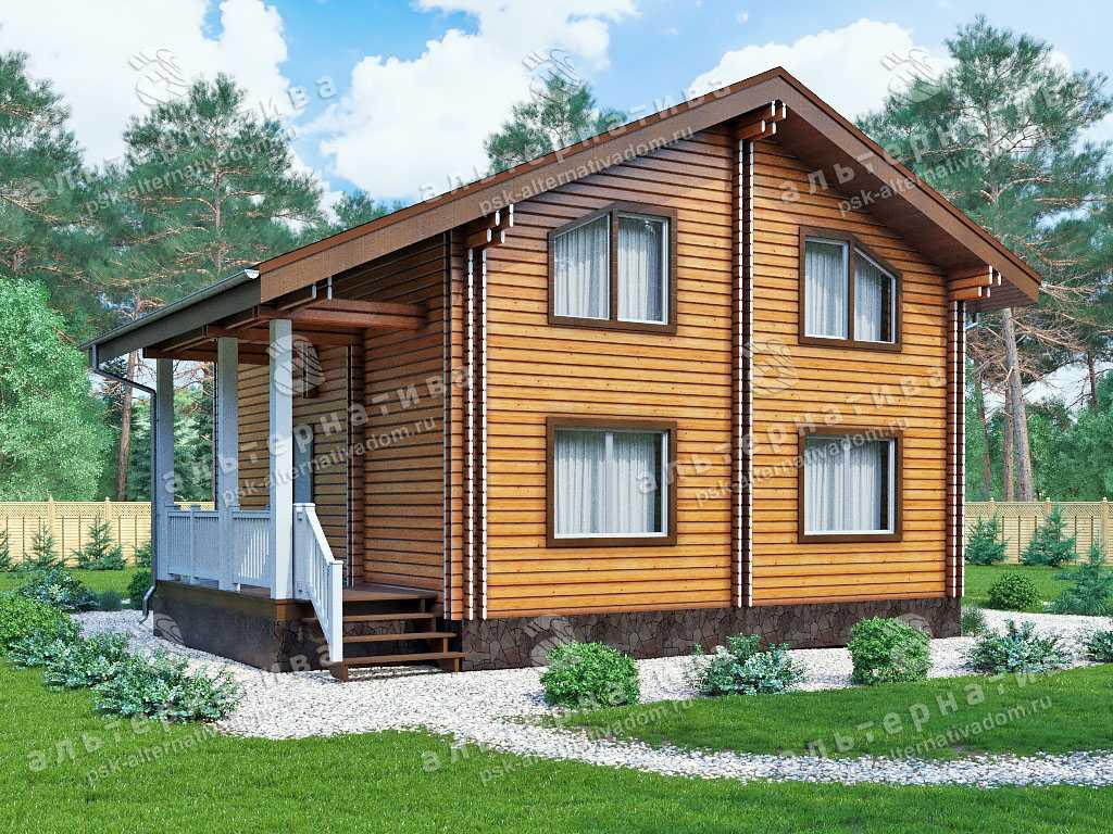 Дом 9х13, 131 м², брус