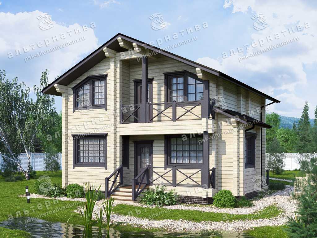 Дом 8х11, 134 м², брус