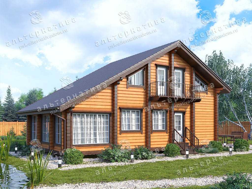 Дом 7х12, 134 м², брус