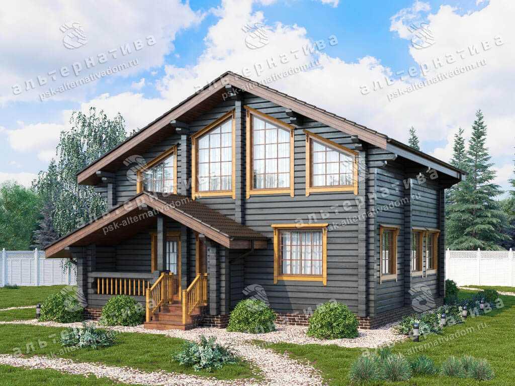 Дом 9х10, 138 м², брус