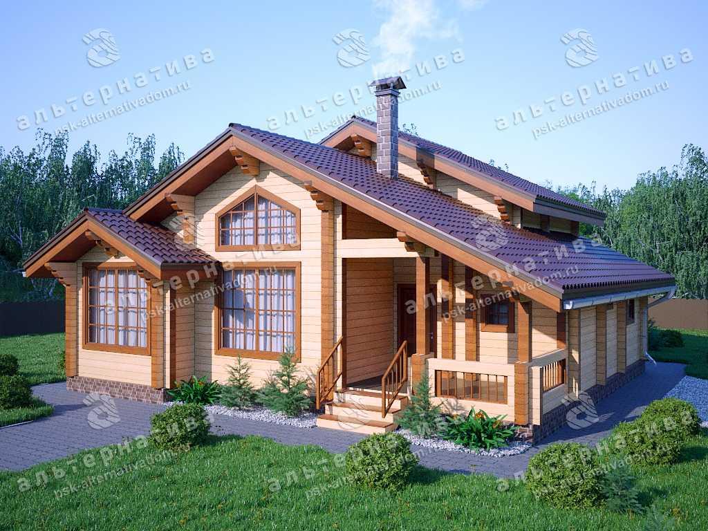 Дом 11х12, 146 м², брус