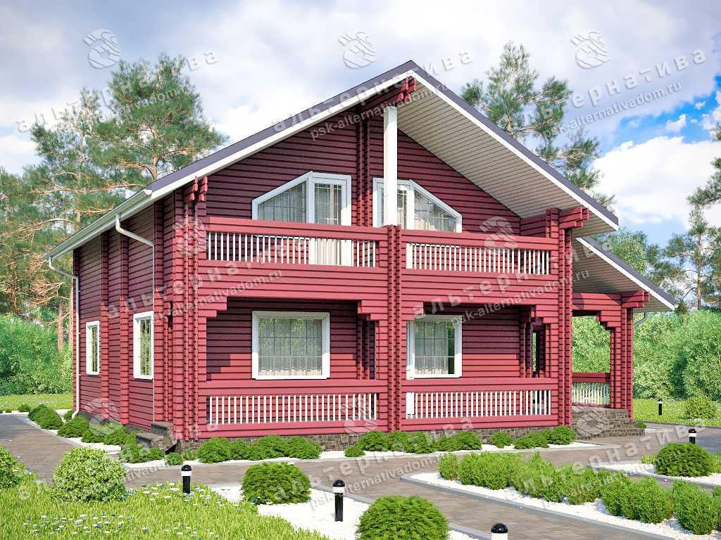 Дом 12х12, 153 м², брус
