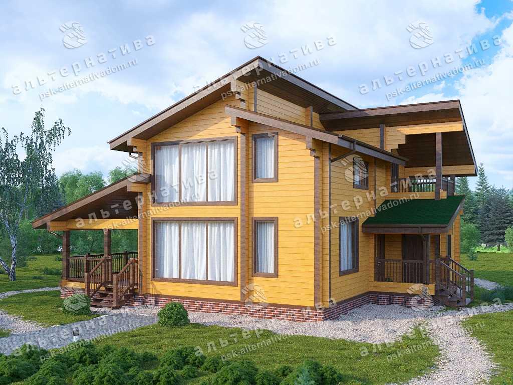 Дом 10х13, 156 м², брус