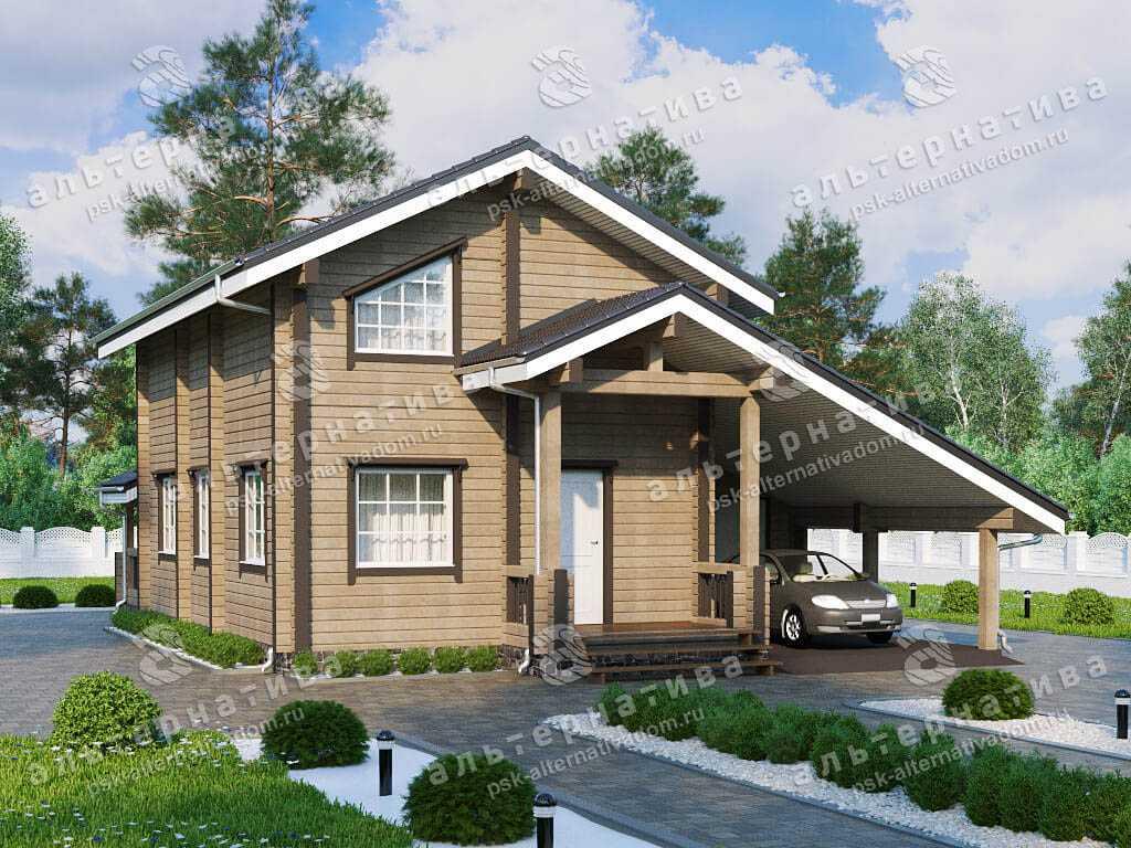 Дом 11х15, 160 м², брус