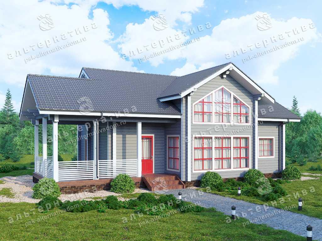 Дом 9х16, 172 м², брус