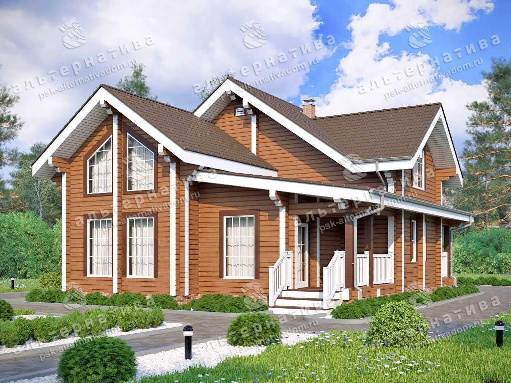Дом 12х12, 176 м², брус