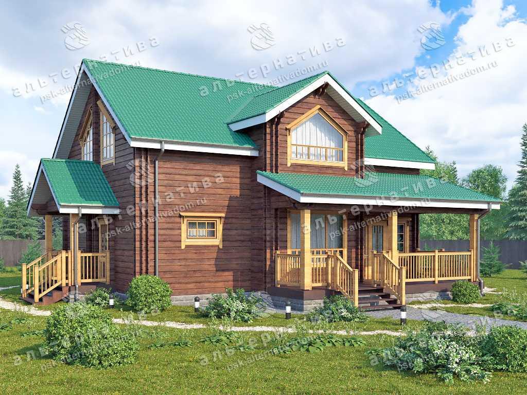 Дом 11х13, 180 м², брус