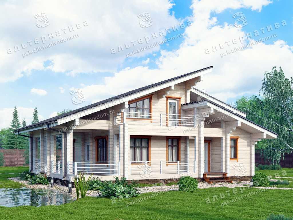 Дом 11х13, 189 м², брус