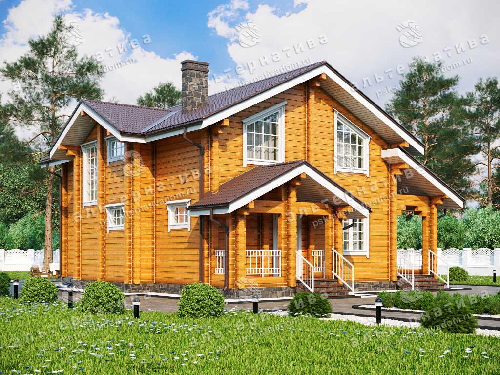 Дом 11х13, 193 м², брус