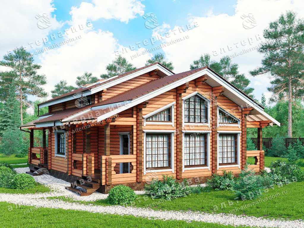 Дом 11х15, 210 м², брус