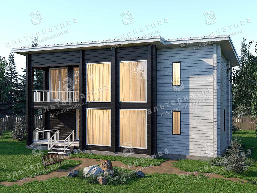 Дом 8х15, 214 м², брус