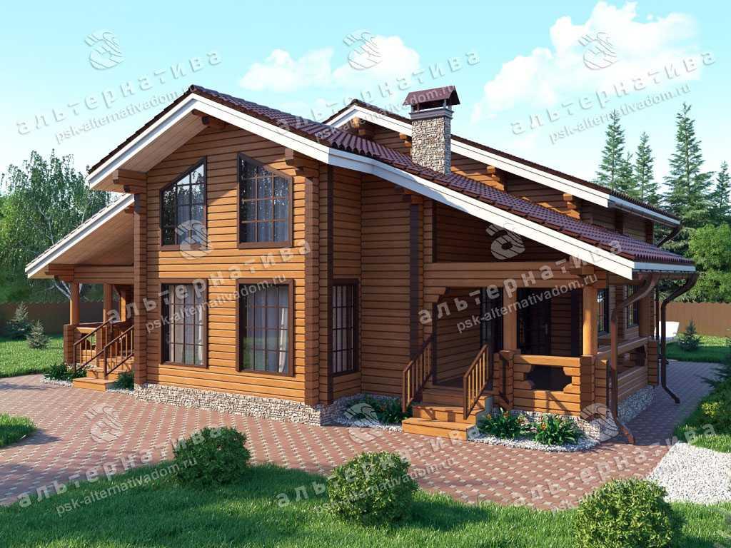 Дом 14х15, 216 м², брус