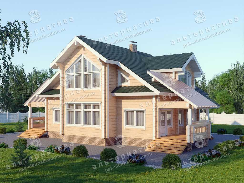 Дом 11х19, 217 м², брус