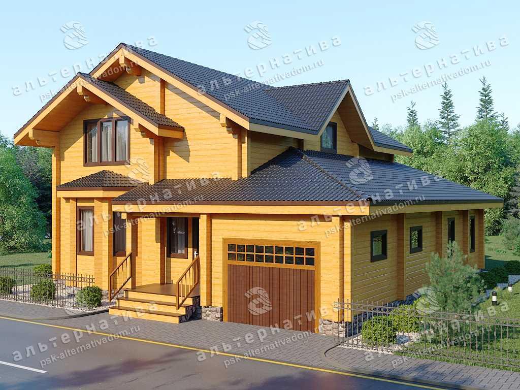 Дом 12х14, 221 м², брус