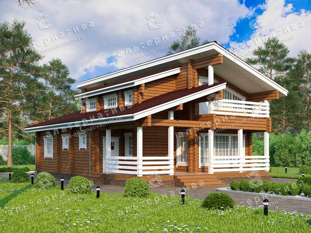 Дом 12х16, 227 м², брус