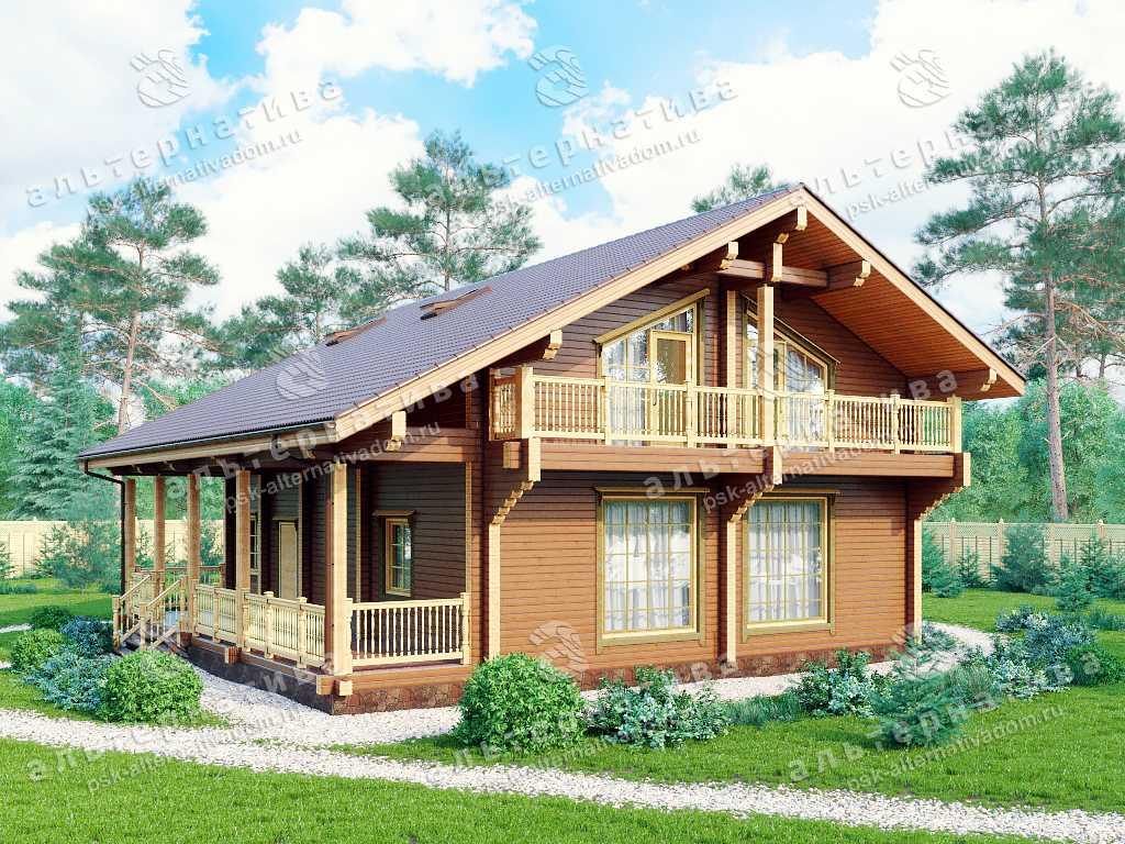 Дом 12х12, 231 м², брус