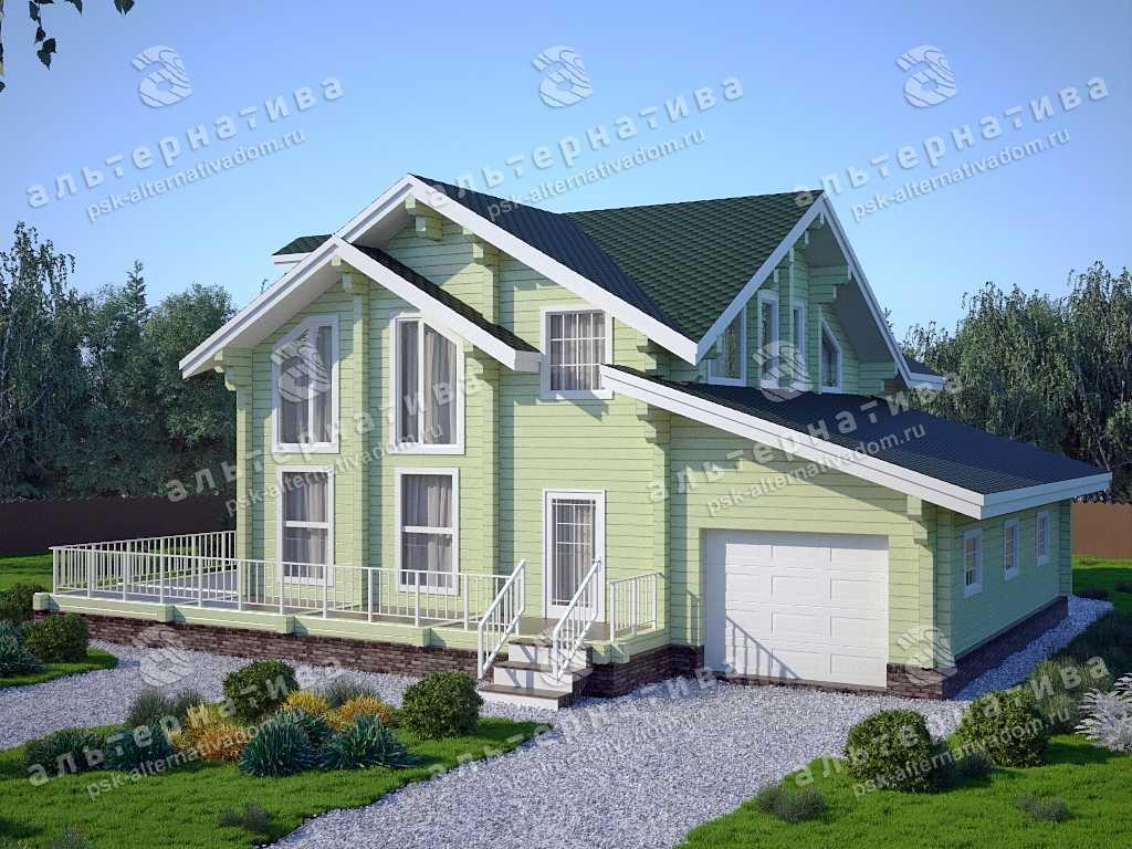 Дом 14х16, 282 м², брус