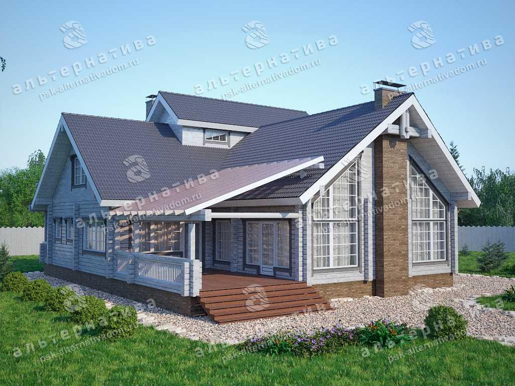 Дом 15х16, 288 м², брус