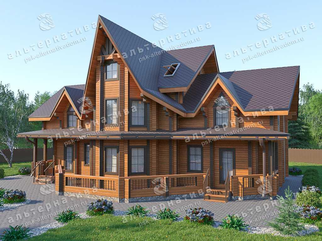 Дом 12х18, 289 м², брус
