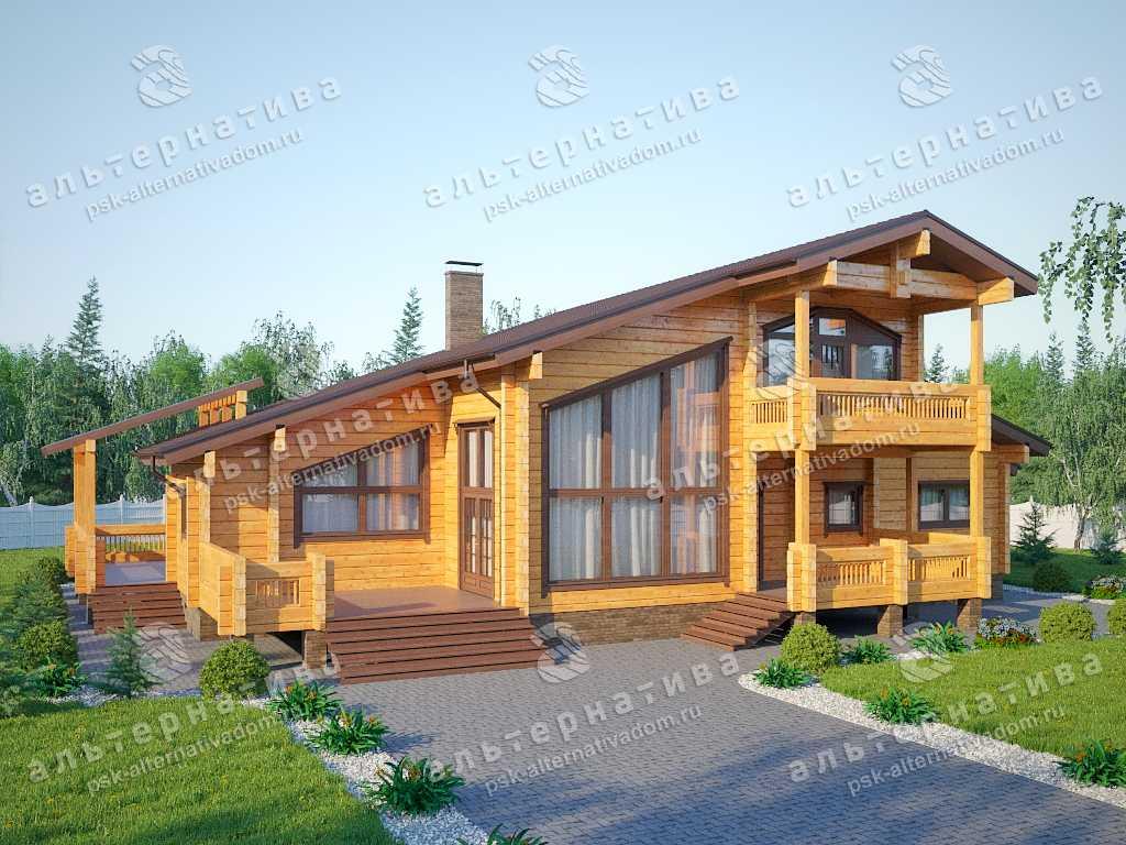 Дом 15х23, 312 м², брус