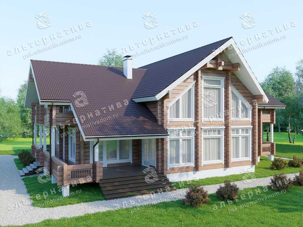 Дом 16х21, 438 м², брус