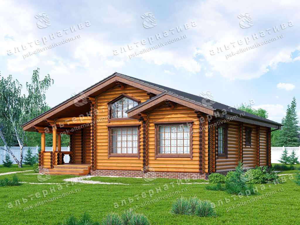 Дом 11х12, 127 м², бревно