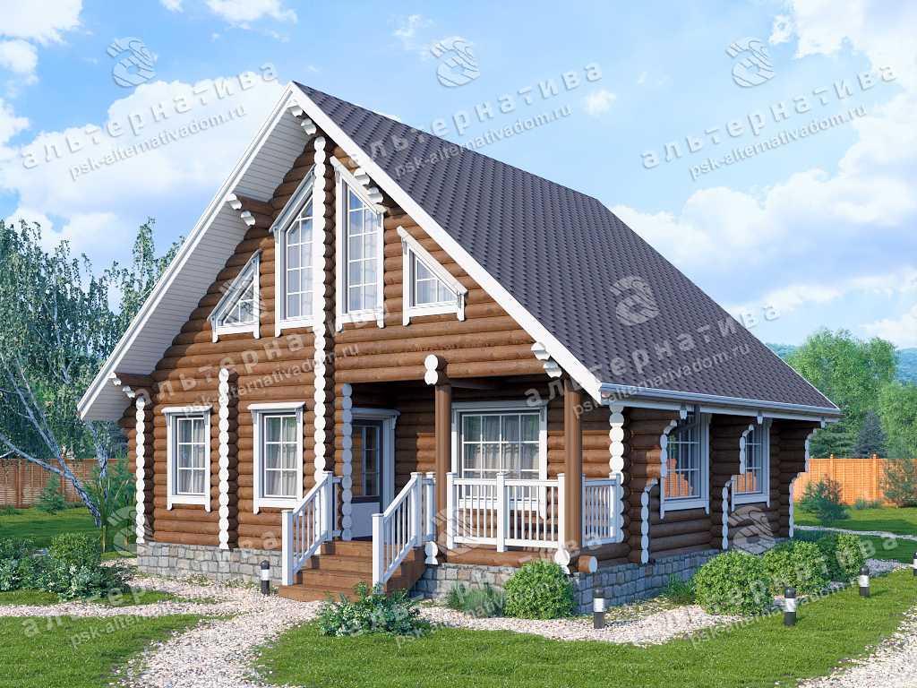 Дом 8х9, 134 м², бревно