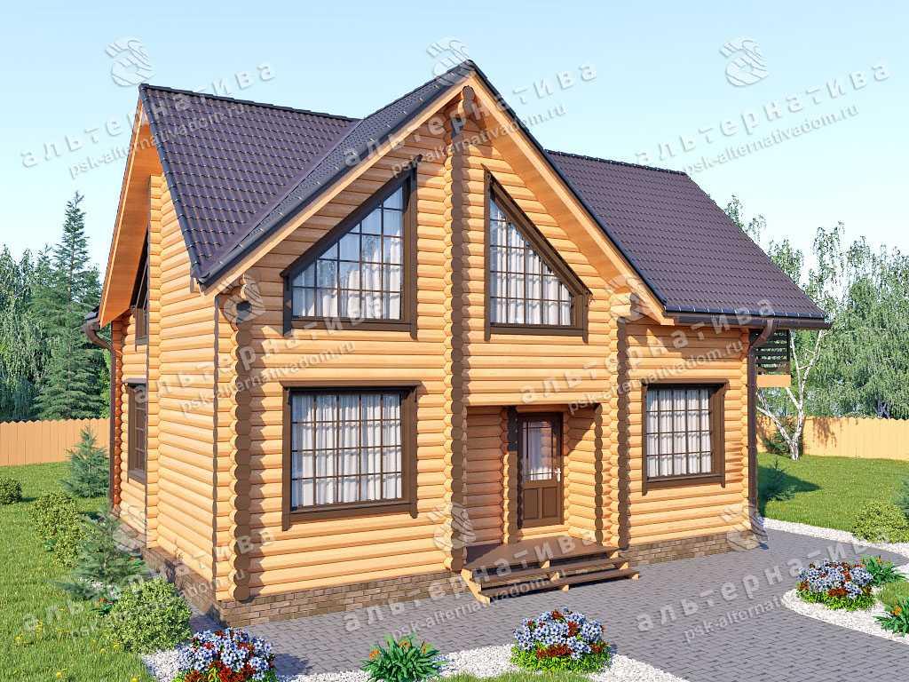 Дом 8х11, 137 м², бревно