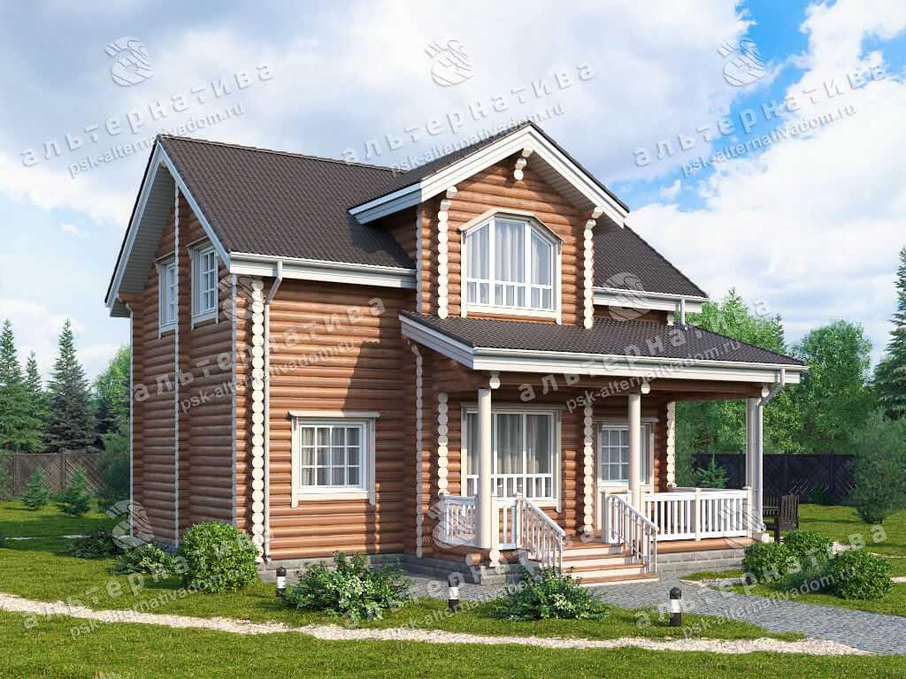 Дом 9х9, 144 м², бревно