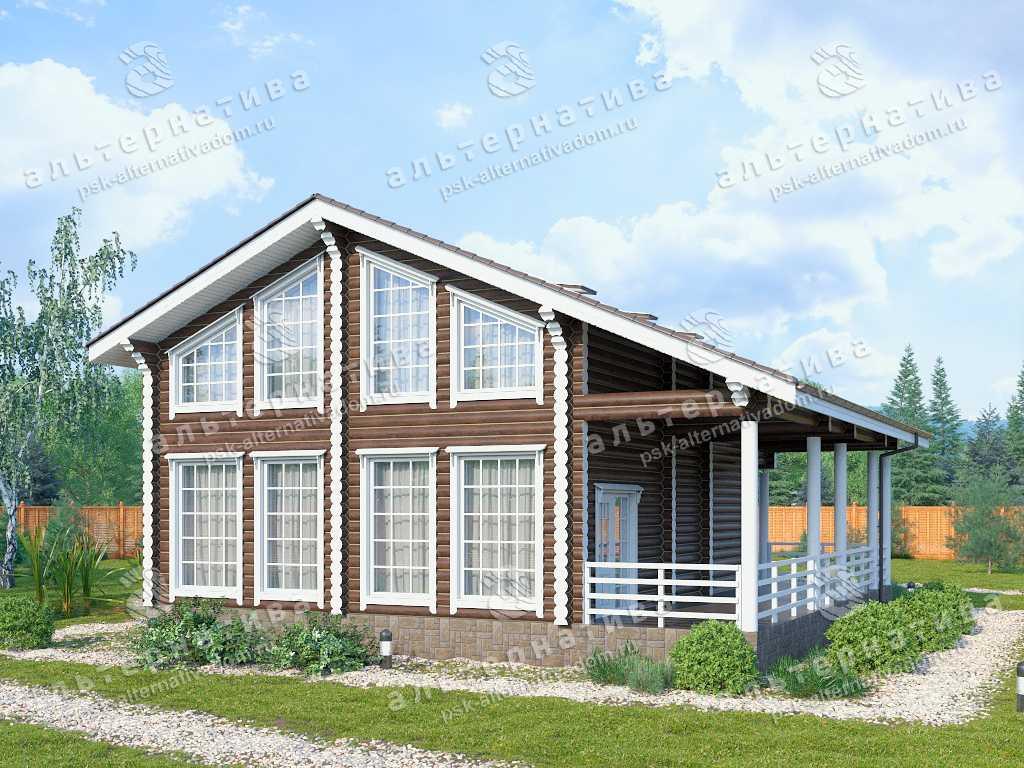 Дом 12х13, 147 м², бревно