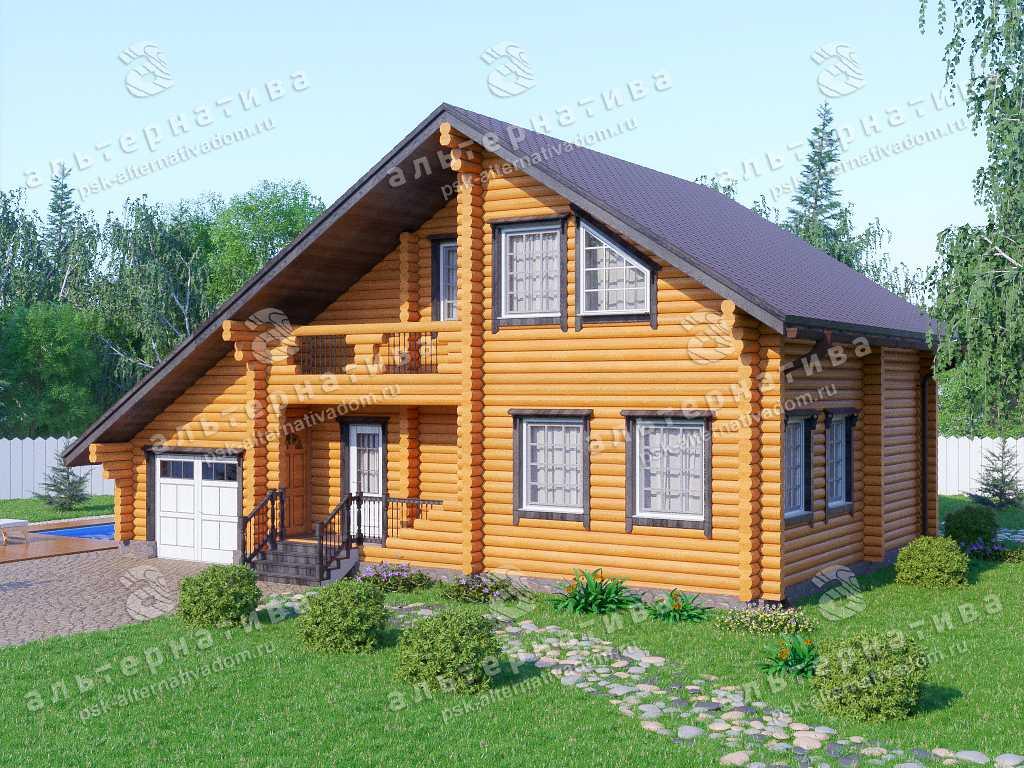 Дом 9х13, 180 м², бревно