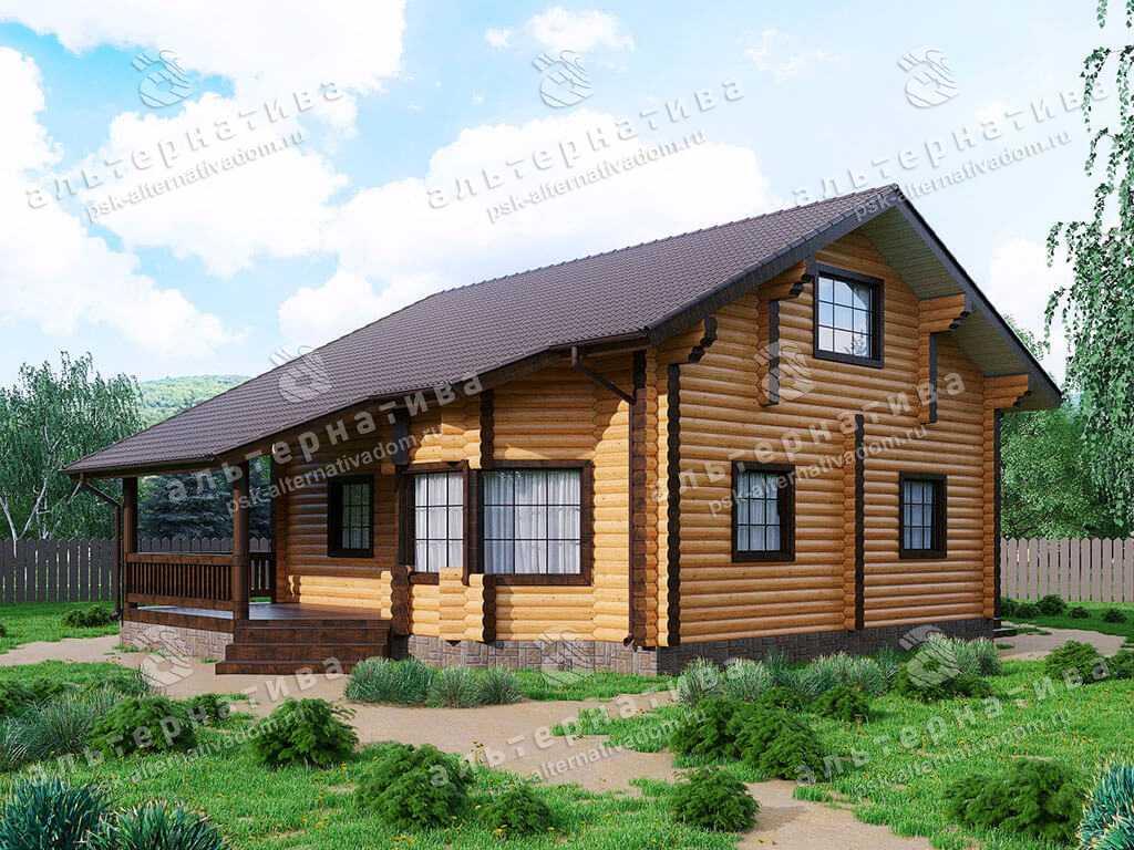 Дом 9х13, 189 м², бревно