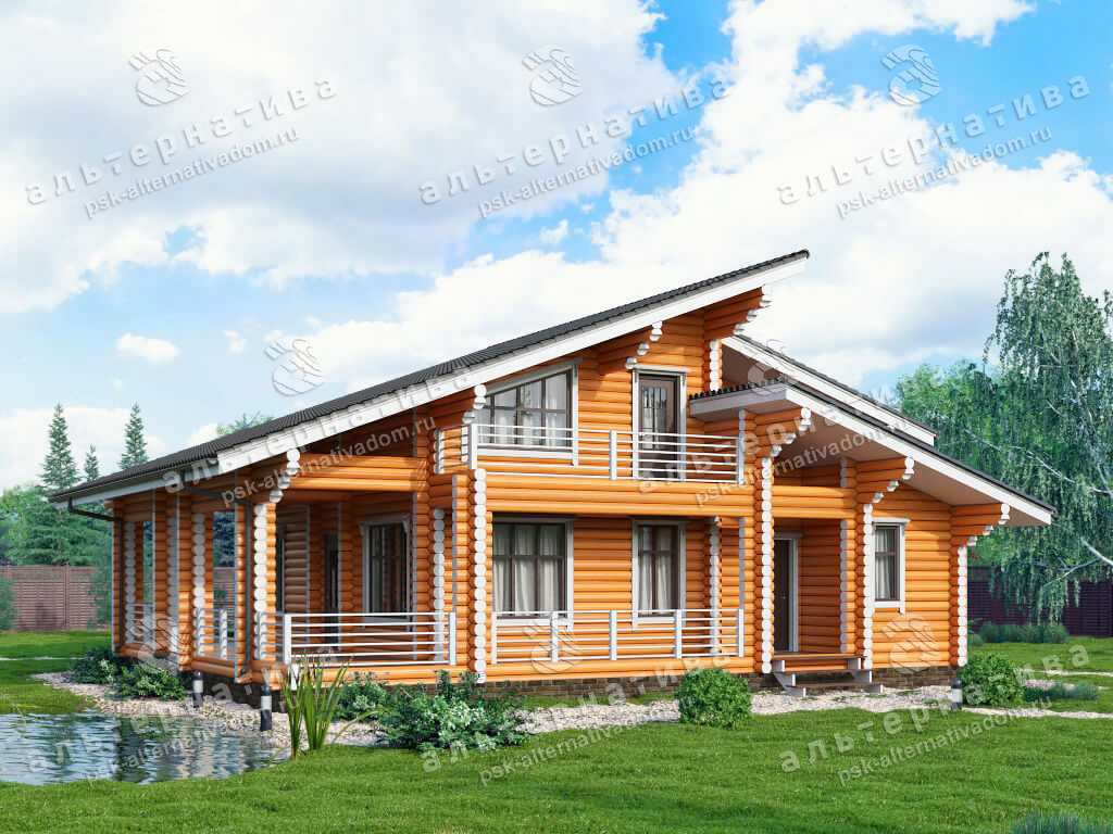 Дом 11х13, 225 м², бревно
