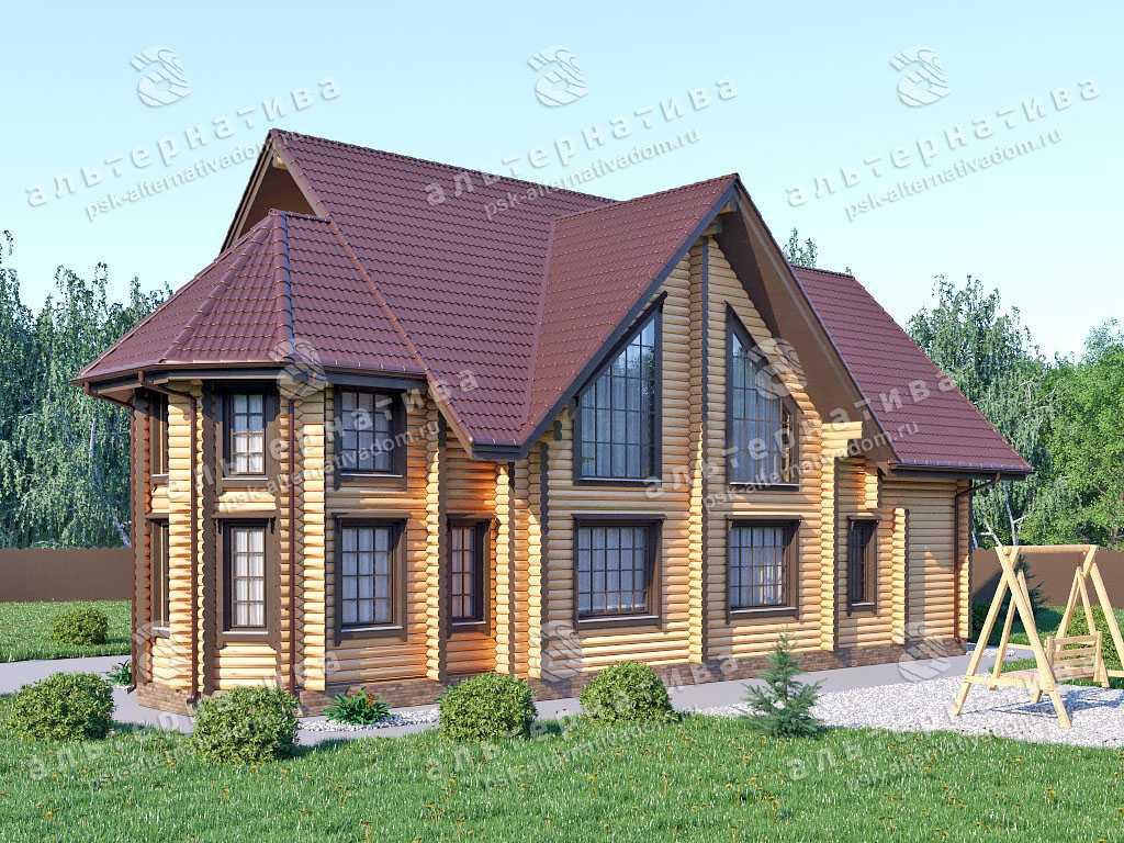 Дом 11х18, 226 м², бревно