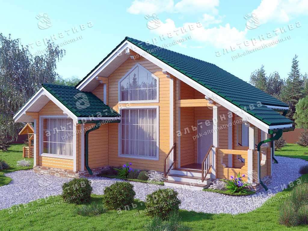 Дом 10х10, 73 м², брус