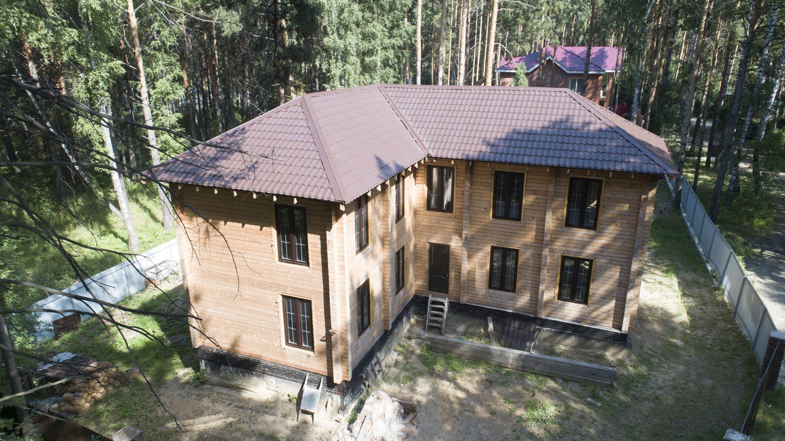 Дом 10х13, 260 м², брус