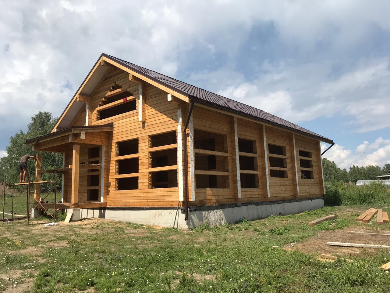 Дом 8х15, 212 м², брус