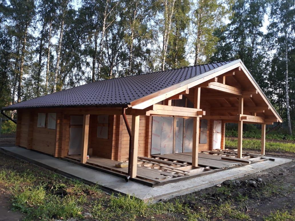 Дом-баня 11х12, 134 м², брус