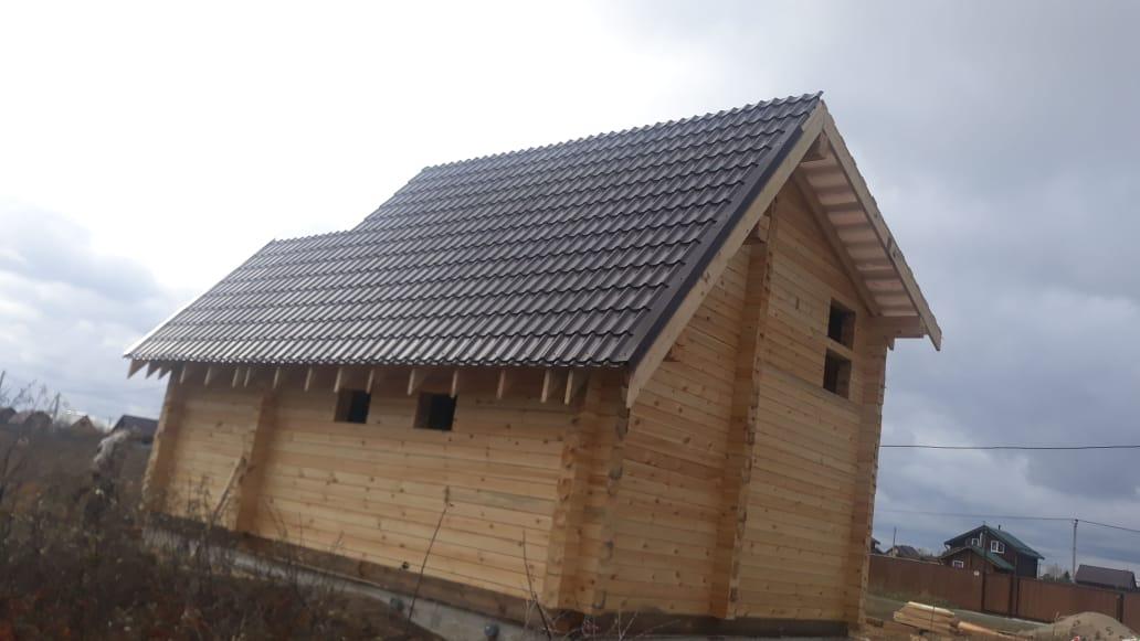Баня 6х8, 72 м², брус